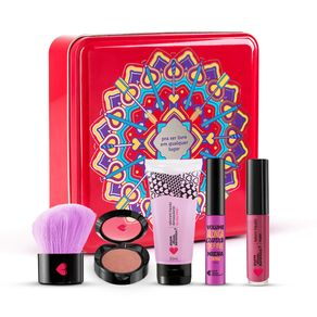 Lata-Mandala-Cereja--Mini-Sabonete-Demaquilante---Mini-Mascara---Batom-Liquido-Mate-56ml-Amorli---Mini-Blush-Cerejetim---Pincel-Multiuso